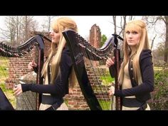 ZOMBIE (The Cranberries) Harp Twins - Camille and Kennerly