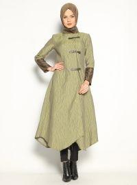 Jacquard Cup - Brown - Coats and Topcoats - Modanisa