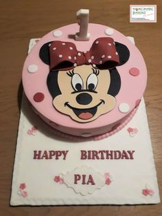Happy Birthday, Birthday Cake, Minnie Mouse Cake, Cake Decorating, Homemade, Baking, Desserts, Food, Happy Brithday