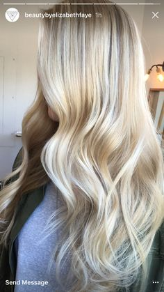 7 Useful Tips On How To Take Care Of Long Lustrous Hair proper hair care tips are most important tha Honey Blond, White Blonde Hair, Yellow Hair, Hair Highlights, Platinum Blonde Highlights, Honey Highlights, Blonde Balayage, Rapunzel, Gorgeous Hair