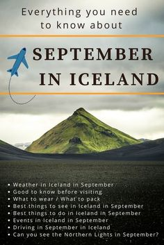 in Iceland - What to do? What to wear? What to pack? What is the weather like in September in Iceland?September in Iceland - What to do? What to wear? What to pack? What is the weather like in September in Iceland? Iceland Travel Tips, Iceland Road Trip, Iceland Roads, Tonga, Holiday Iceland, Best Island Vacation, Travel, Dreams, Frases