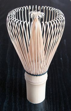 This is a bamboo whisk used to mix the matcha into the hot water within a given tea bowl.