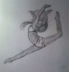 Drawing dancer - Dora A. Art Drawings Sketches Simple, Pencil Art Drawings, Easy Drawings, Ballet Drawings, Dancing Drawings, Dancer Drawing, Painting & Drawing, Ballet Art, Drawing People
