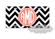 License Plate  Car Tag Personalized Monogrammed by MonogramFrenzy, $21.99