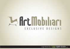 Furniture logo design with stylish typeface Free Vector