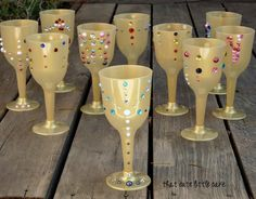 {Jake Neverland Pirates} DIY Goblets with Jewels | That Cute Little Cake