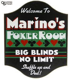 Poker Room Sign- Personalized