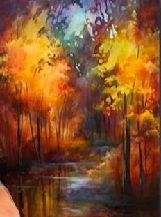 Let's Make a Painting: Autumn Landscape by Michael Lang