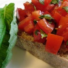 Best Bruschetta Ever | Try a mix of fresh and dried basil in this tasty bruschetta mix. You'll be amazed at how good they are together.