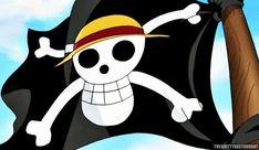 "Drapeau Pirate du ""Chapeau Paille ł Luffy"" ~ Capitaine : Luffy Monkey D. ⭐ Navire : ⛵ Sunny Thousand ⛵ ~ ⚓_Øne_Piece_⚓ ~ [✨GiF✨]"