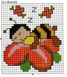 **Blog Amor Perfeito** Gráficos de ponto cruz: Joaninhas Small Cross Stitch, Butterfly Cross Stitch, Cross Stitch Cards, Cross Stitch Baby, Cross Stitch Animals, Cross Stitch Flowers, Modern Cross Stitch, Cross Stitch Designs, Cross Stitching