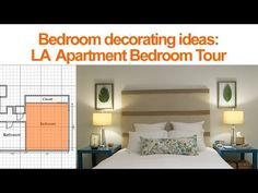 DIY Bedroom Decorating Ideas: See how I transformed my bedroom from plain and boring into a beautiful relaxing space with lots of budget friendly DIY projects.