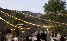 7 Ways to Get Creative With String Lights | Photo by: Isabel Lawrence Photographers | TheKnot.com
