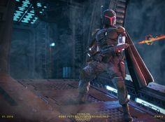 ArtStation - Star Wars Reimagined   Robo Fett, J. Mark