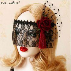1 UNIDS Negro Sexy Lady Lace Mask Máscara de Ojos Para Party Disfraz De Halloween de Disfraces Fiesta de Baile de Alta calidad en Máscaras del partido de Hogar y Jardín en AliExpress.com | Alibaba Group