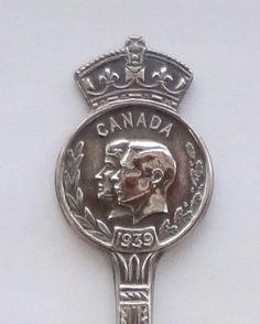 Collector Spoon Canada 1939 King George VI Queen Elizabeth Visit Souvenir