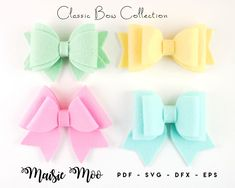 Hair bow templates and more x Enjoy by MaisieMooDesign on Etsy Bow Template, Templates, Glitter Canvas, Bow Pattern, Felt Bows, Cheer Bows, How To Make Bows, Svg Files For Cricut, As You Like