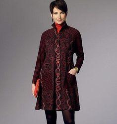 B6254 Misses' Coat Dress