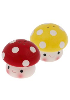 omg i love mushyy  Truffle Shuffle Shaker Set by Streamline - Red, Yellow, Mushrooms, Best Seller, Best Seller, Top Rated