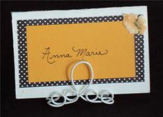 #7-Place your card between the back wire loops and push  together to hold in place