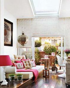 ilkbahar modası oturma odası