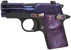 Ridiculously accurate and amazingly slim, the Sig Purple Pearl is our top pick for concealed carry semi-autos. Features the tried-and-true 1911 styling with the added luxury of night sights Purple Love, All Things Purple, Purple Gun, Sig Sauer P238, Night Sights, Love Gun, Fire Powers, Cool Guns, Awesome Guns