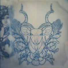 Kudu Tattoo | Anna Enola | Line Drawing