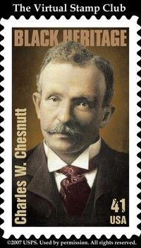 Charles W Chesnutt, former principal of the Howard School which ultimately became Fayetteville State University, was the 2008 honoree with a Black Heritage Stamp.
