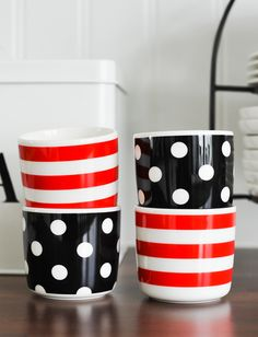 prickar och rander marimekko Marimekko, Planter Pots, Tableware, Kitchen, Design, Dinnerware, Cooking, Tablewares, Kitchens