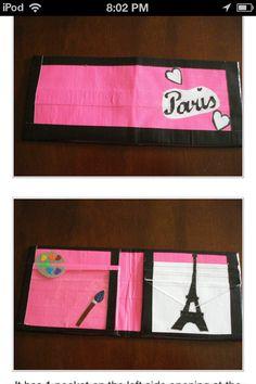 Paris duct tape wallet