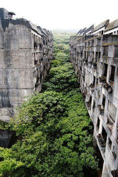 Abandoned residential area in the city of Keelung, Taiwan