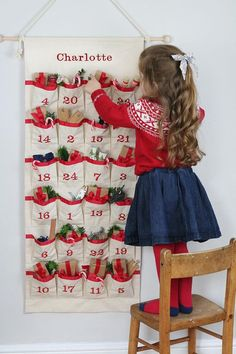 Advent Calendar - Fabric Advent - Christmas Countdown Calendar - Kids Advent Calendar - Christmas Ca Childrens Advent Calendar, Fabric Advent Calendar, Advent For Kids, Advent Calendars For Kids, Kids Calendar, Homemade Advent Calendars, Christmas Holidays, Christmas Crafts, Family Christmas