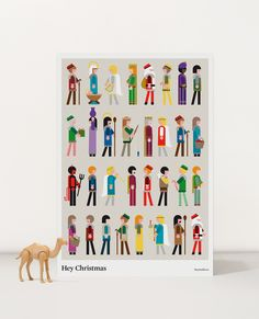Creative Christmas, Hey, Illustration, and Poster image ideas & inspiration on Designspiration Pen Sketch, A Christmas Story, Spanish Christmas, Christmas Christmas, Character Design Animation, Flat Illustration, Art Background, Simple Art, Deco