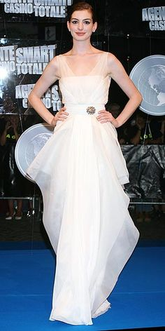 TIERS OF JOY After seeing Anne in another elegant white Valentino creation (made just for her!) at the 2008 Rome Get Smart premiere, we totally understand why she tapped the legendary designer to create her wedding gown.