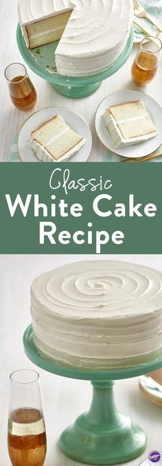 Classic White Cake Recipe - Simple yet elegant and classy, learn how to make a classic white cake to serve during any celebration like birthdays, anniversaries or shower parties. The white cake pairs perfectly with dessert wine Moscato D' Asti.