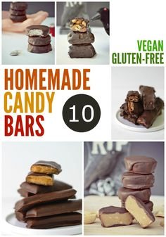 10 Homemade Gluten-free Vegan Candy Bar Recipes. Perfect for an anytime treat at home!