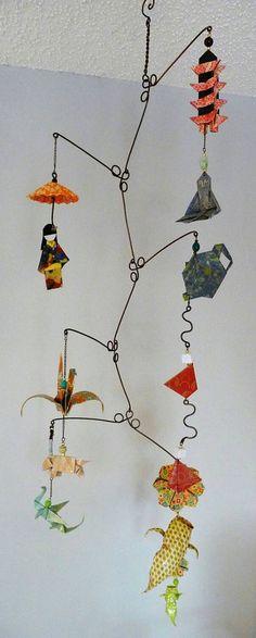 Japanese Culture  Origami Mobile  Decorative by StellarOrigami