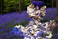"""The Storyteller"" image from ""Wonderland"" by photographer Kirsty Mitchell and makeup artist Elbie Van Eeden"