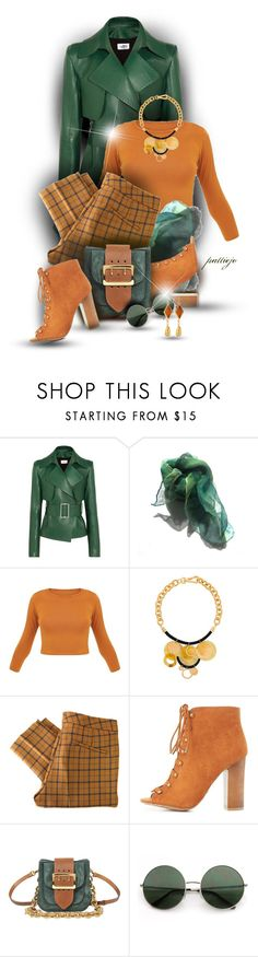 """The Clan McMustard"" by rockreborn ❤ liked on Polyvore featuring Thierry Mugler, Marni, See by Chloé, Bamboo, Burberry and Devon Leigh"