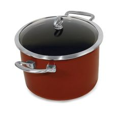 Chantal Copper Fusion 6Quart Casserole with Glass Lid Chili Red * Want additional info? Click on the image.