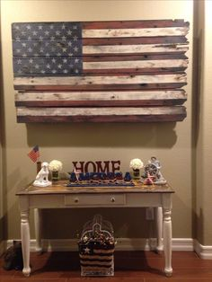 American Flag wood art, Happy customer