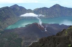 August 01 , 2016.     RINJANI, INDONESIA : Mount Rinjani at Lombok island erupted today and volcanic ash plumes were observed to have reached high altitudes.