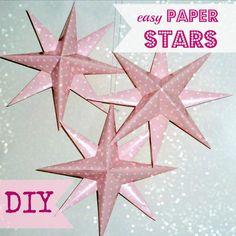 Easy DIY Paper Stars | AllFreeChristmasCrafts.com