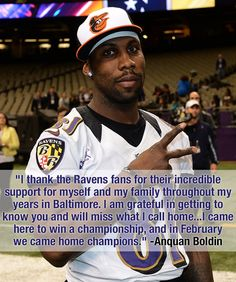 Anquan Boldin's Thank You to Ravens fans. full article: http://www.baltimoreravens.com/news/article-1/Anquan-Boldin-Thanks-Ravens-Fans/d9523074-8a24-4948-9455-82d50be53967