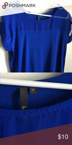 Blue T-shirt excellent condition sheer on top Very nice looking little baggy Tops Tees - Short Sleeve