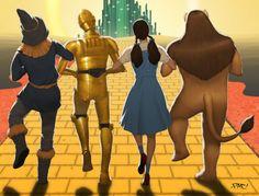 Wizard of Oz/Star Wars mashup by Francisco Perez