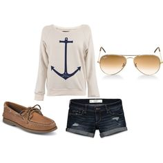 Day on the Boat, created by claire-rowella on Polyvore