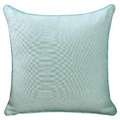 """• Made of polyester<br>• Measures 18""""x18""""<br><br>Throw a plain pillow into the mix with the Bazy Throw Pillow from VCNY. This solid accent pillow with piping is a great background for more powerful prints."""