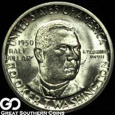 Booker T Washington Commemorative Silver half by DrewsCollectibles, $29.00