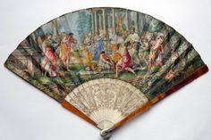 Sacrifice to diana, fan after pietro da cortona circa 1720